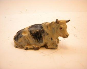 Vintage Britains Die-cast Sitting Cow  Made in England