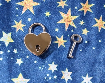 Add On - Small Heart Padlock with Key