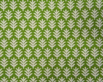 """Green Dress Fabric, White Floral Print, Sewing Fabric, Home Decoration, 43"""" Inch Cotton Fabric By The Yard ZBC1622"""