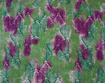 "Dressmaking Craft Fabric, Indian Decor, Green Fabric, Sewing Material Accessories, 45"" Inch Cotton Fabric By The Yard ZBC8370A"