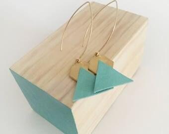 Hexagonal earrings / Hexagonal earrings whit triangle shape / Geometric earrings