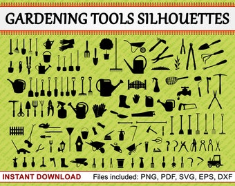 Gardening svg etsy for Gardening tools list pdf
