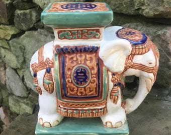 Asian Elephant Garden Stool Small