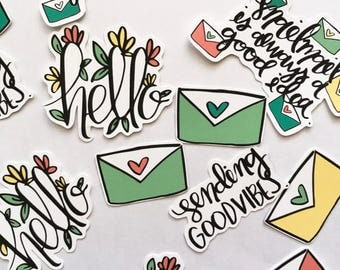 Hello Die Cuts Yellow