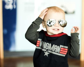 Top Gun, baby rompers, handmade baby clothes, baby bodysuit, custom baby clothes, trendy toddler clothes, wingman, movies