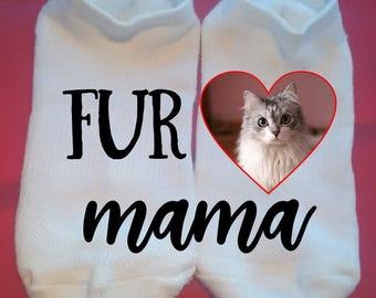 Fur Mama - Custom Photo socks - Pet Socks - No Show Socks - custom socks - lucky socks - Custom: any photo, any colors