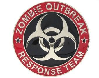 ZOMBIE Outbreak Response TEAM logo metal BUCKLE For Walking Dead Fans
