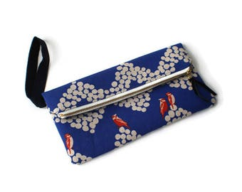Foldover Clutch / Clutch Purse / Evening Bag / Wristlet / Waterproof Lining