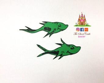 Dr. Seuss Flat Fondant Toppers, 1 Fish, 2 Fish, Red Fish & Blue Fish