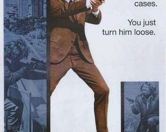Clint Eastwood Dirty Harry  Rare Vintage Poster