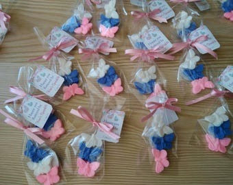 120 pieces Butterfly baby shower,40 bags,butterfly first birthday,butterfly favors,soap favors,baptism favor,christening favor,butterfly