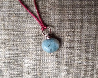 The heart of the Ocean, Aquamarine Necklace, Element Water Neclace,  Witch Aquamarine necklace, Element Water, Natural Stone Necklace,
