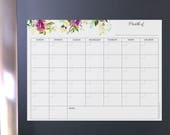 Calendar dry erase, monthly dry erase, dry erase monthly, calendar magnetic, magnetic calendar, calendar magnet, reusable calendar magnet
