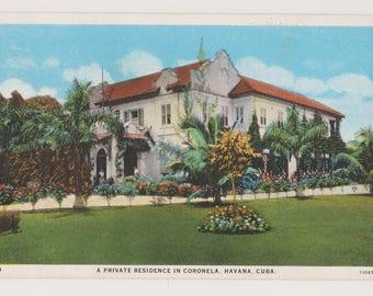 Antique Postcard From Cuba, Travel Postcard, Havana Cuba, Printed Lithograph Postcard,  Ephemera