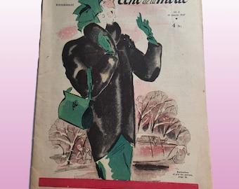 "40's French Vintage Fashion Magazine ""Le Petit Echo de la Mode"" 10/19/1947 - n 42"
