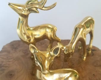 Vintage Inspired Deer Family