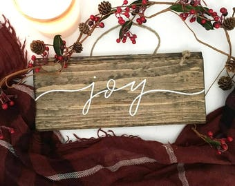 Joy - Wood Sign