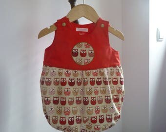 Red OWL 12 month romper