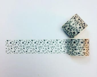 Monochrome triangle patterned washi tape