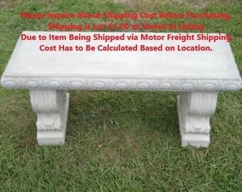 Garden Furniture Qd concrete bench | etsy