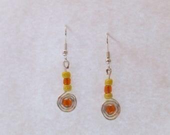 Handmade Spiral Earrings