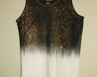 Tie Dye acid wash vest top sleeveless T shirt hipster festival grunge Retro galaxy men  women indie dip dye indie skate rave tank top