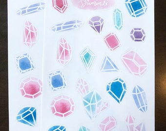 Gems and Crystals Stickers