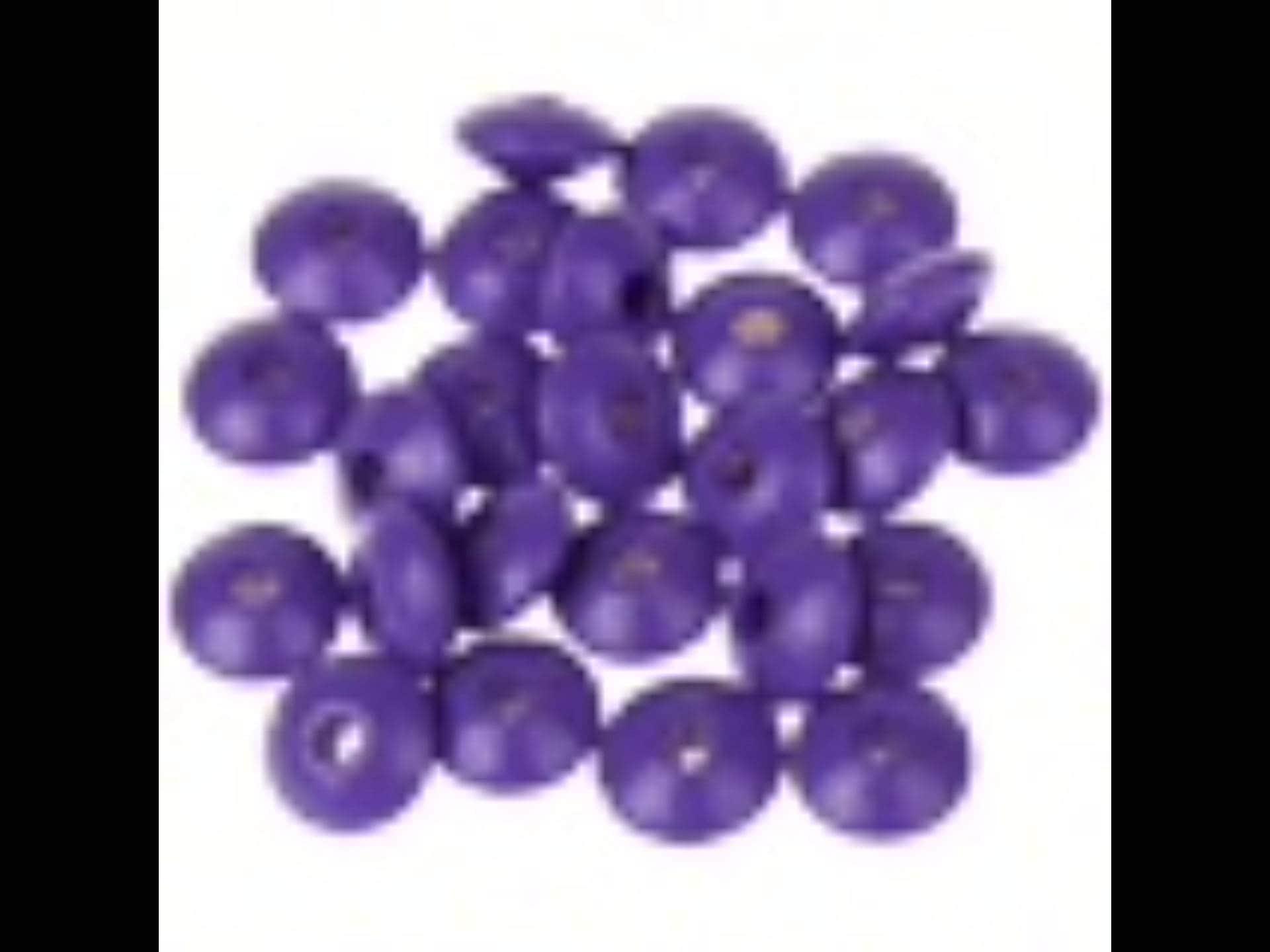 50 perles plates 10 mm pour attache tetineattache sucette - Perle en bois pour attache tetine ...