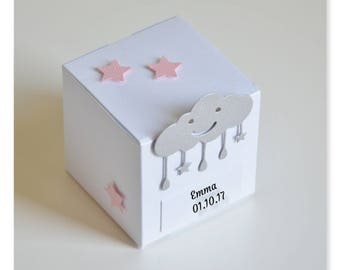 """Box dragees for baptism theme """"Cloud"""", gift idea or home decoration, birthday, baptism, birth"""