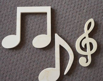 Musical Note Wall Art - Music Lover - Wood wall art - Music notes - Artwork - Bedroom Decor -  Wall Hanging