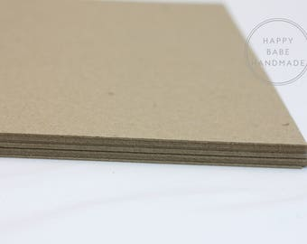 """25 Chipboard Sheets, 8.5"""" x 11"""", Recycled Chipboard, Lightweight Chipboard, Kraft Paper, Kraft Chipboard, Photo Backing, Rustic Wedding"""