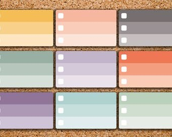 18 Ombre Checkbox Blank Half Box Planner Stickers for 2017 inkWELL Press Planner & Erin Condren IWP-HS65
