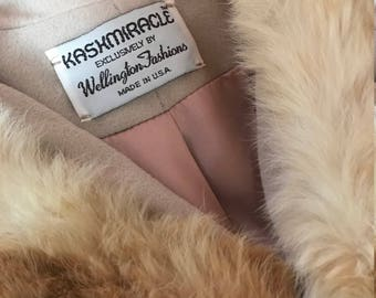Vintage Kashmiracle Coat with Fur Collar