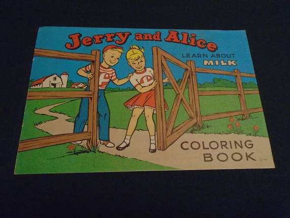 1960 Unused Foremost Milk Promotional Coloring Book
