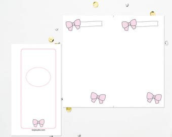 PERSONAL RING Pink Bow Blank