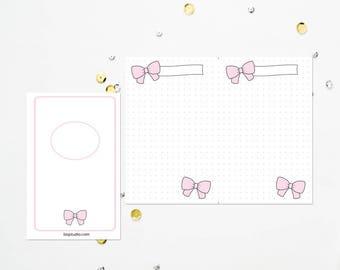 POCKET TN Pink Bow Dot Grid
