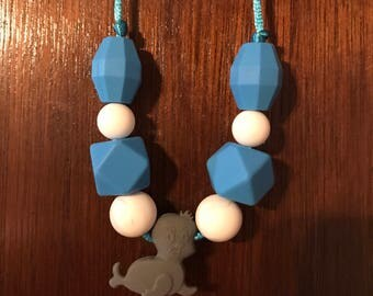 9-Bead Seal Sensory Chewable Necklace