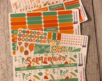 September (Autumn)---- Monthly Planner Kit ---- {Includes 160+ Stickers}