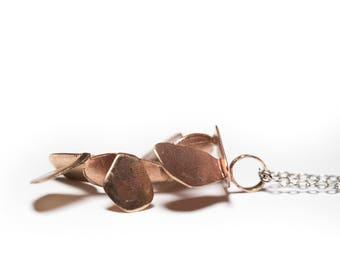 Bronze pendant, geometric pendant, Nature pendant
