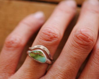 Simple Turquoise Ring Set   Size 5.75