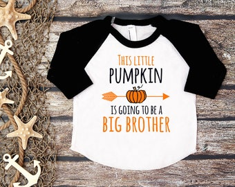 Big Brother Shirt;Halloween Baby Announcement;Halloween Big Brother;Pregnancy Announcement Shirt;Sibling Shirt;Baby Announcement Shirt;