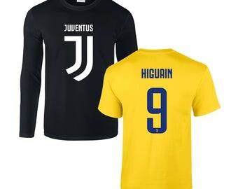21280e2653e Juventus F.C.   NEW 2017 18   Gonzalo Higuaín  9 Soccer Football Gildan Mens