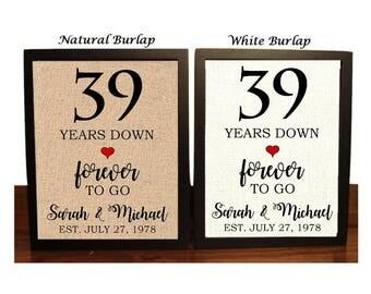 wedding anniversary gifts 39 years