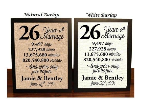 26th wedding anniversary colors