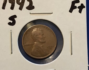 1942 S Lincoln Wheat Cent • F+ • #312