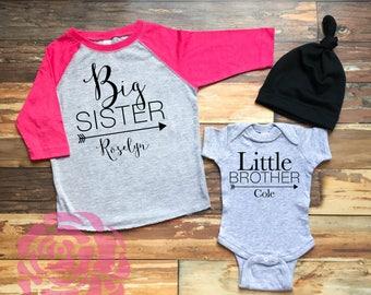 Big Sister Little Brother Shirt Set, Big Sister Little Brother Set, Big Sister Shirt, Little Brother Shirt, Sibling Shirts, 2 Sibling Shirts