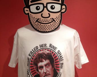Vincent Price / Dr Phibes Horror Movie Actor T-Shirt - White Shirt