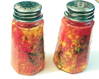 Custom Salt and Pepper Shakers-Wedding Favors, Thanksgiving Dinner