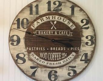 Extra Large Roman Numeral Farmhouse Clock Co 30 40 Inch