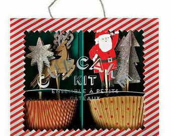 Meri Meri. Meri Meri Christmas. Christmas Cupcake Toppers. Meri Meri Party. Santa Claus. Christmas Decorations. Christmas Party. Cupcakes